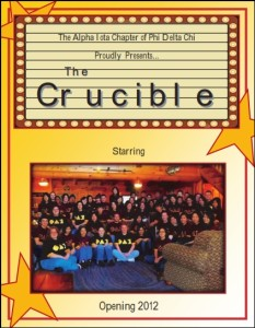 Crucible Cover 2012